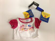 Genuine Build a Bear LaLaLoopsy T-shirt & Blue Pet Brush, Brand New!
