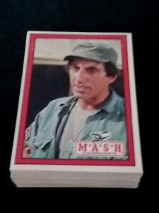 1982 DONRUSS MASH 66 CARD SET. ALAN ALDA,HARRY MORGAN,LORRETTA SWIT & JAMIE FARR