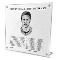 Steve Yzerman Detroit Red Wings HHOF Legends Fire-Polished Acrylic Plaque