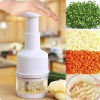 Stainless Onion Chopper Garlic Cutter Slicer Peeler Dicer Kitchen Vegetable PP