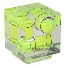 Triple 3 Axis Hot Shoe Spirit Level Hotshoe Bubble For Canon Nikon DSLR Camera