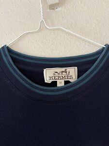 Hermes T-shirt  Blue Cotton