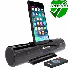 iPhone Docking Station Speaker iPod charger Portable Dock AZATOM iFlute 2 Black