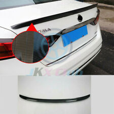 Carbon Fiber ABS Rear Tail Trunk Spoiler Wing Lip Trim For Nissan Altima 2019