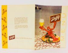 Vintage Schlitz Beer Menu Cover 1955 Milwaukee Wisconsin Brewing Lobster 1955