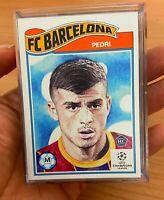 Pedri Topps UCL Living Set 2020 Card #243 Rookie Card Barcelona FC