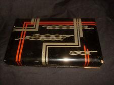 VINTAGE-Antico Giapponese laccato Vassoio Box