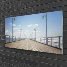 Print on Glass Wall art 100x50 Picture Image Bridge Architecture