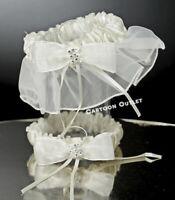 WEDDING CEREMONY GARTER BRIDAL PARTY BIEGE LIGA DE BODA IVORY Toss and Keep set