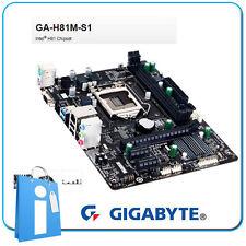 Placa base mATX H81 GIGABYTE GA-H81M-S1 Socket 1150 con Accesorios