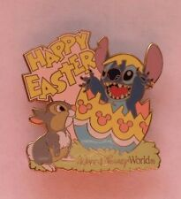 DISNEY WDW HAPPY EASTER 2004 STITCH EASTER EGG THUMPER BAMBI PINK VARIATION PIN