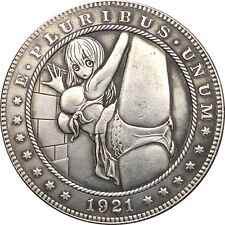 Hobo Nickel  1921-D USA Morgan Dollar Hot Girl COIN