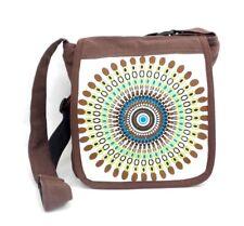 Crossbody Purse Messenger Style Brown Geometric Mandala Hippie Shoulder Bag