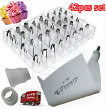 42 Piping Nozzles Cupcake Cake Decorating Tool Icing Piping with Bag and Adapter