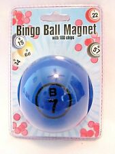 Bingo Chips Bingo Ball Magnetic Pick-up Storage System Blue New