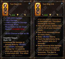 Diablo 3 ROS PS4 [Softcore] - NEU 2.6 - 100% Unsterblichen Ring-Scheckabbildungen!