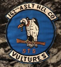 """Original Vietnamese Made 162nd  AHC  """" Vultures"""" PATCH Helicopter"""