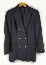 TOMMY HILFIGER Womens Double Breasted Blazer Jacket - Navy- Size 6 Small 38''