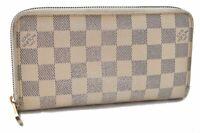Authentic Louis Vuitton Damier Azur Zippy Wallet N60019 LV B2691