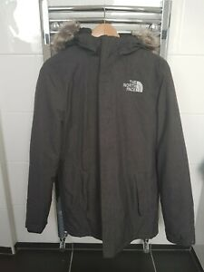 North Face Zaneck Jacket dark grey heather MEDIUM minor fault on sleeve