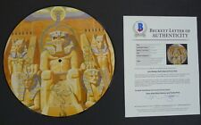 Iron Maiden Powerslave X4 Band Signed Autograph Picture Disc LP BAS Certified