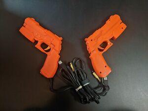 1x Namco Orange Light Gun Sony Playstation 2 PS2 Controller VG Condition NPC-106