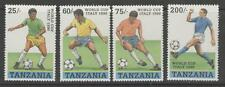 TANZANIA SG744/7 1990 FOOTBALL WORLD CUP MNH