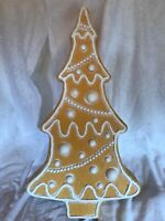 Blow Mold Christmas Gingerbread Tree White Icing Union Don Featherstone