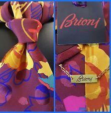 BRIONI ROMA STUNNING SET (TIE & POCKET SQUARE) LUXURY SILK, NWT $395