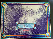 1969 CSNY Crosby Stills Nash Young Santana Zephyr Salt Palace Concert Poster