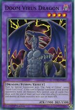 YU-GI-OH CARD: DOOM VIRUS DRAGON - LEDD-ENA37 - 1ST EDITION