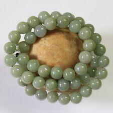 "100% Natural (Grade A) Untreated Light Green Jadeite JADE Necklace 21"" #N199"