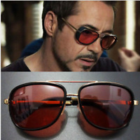 Iron Man Fashion Double Girder Sun Glasses Driving Sport Outdoor Glasses Eyewear