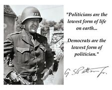 General George S. Patton Quote W/ Facsimile Autograph - 8X10 Photo (Pq-015)