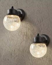 Hampton Bay 2 Pack Exterior LED Wall Light Sandy Black Finish 1001-734-719