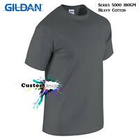 Gildan T-SHIRT Charcoal basic tee S-5XL Small Big Men's Heavy Cotton