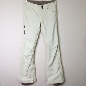 """Burton Dryride """"The White Collection"""" Women's S Snowboard Pants Boot Cut Ivory"""