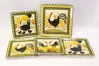 Certified International Oh Happy Day Dinner and Salad Plates  Lot of 5