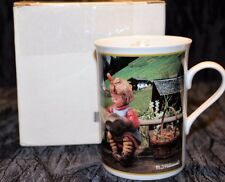 "M.I. Hummel Fine Porcelain Collector Mug "" July"" What's New? With Box"