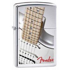Zippo 28845 fender guitar high polish chrome finish full size Lighter