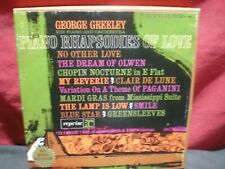 George Greeley Piano Rhapsodies Of Love Reel To Reel Tape 71/2  IPS Sounds Great