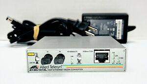 Allied Telesis Media Converter AT-MC101XL-10 w/ Power Supply Free Shipping!