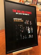 "BIG 11x14 FRAMED ROLLING STONES ""GOT LIVE IF YOU WANT IT!"" LP ALBUM CD PROMO AD"