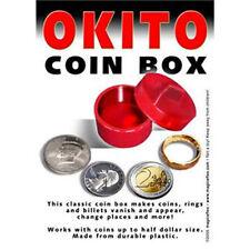 Okito Coin Box Plastic Half Dollar sized Coin Thru Solid Magic Trick