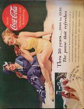 1936 Coca-Cola soda glass 50 years fashion changed coke same model swimwear ad