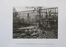 Barnard TRESTLE BRIDGE- NASHVILLE 1864 Foto 2 Drucke aus der 70er print
