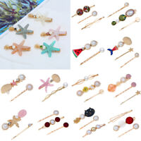 Fashion Women Beach Acrylic Hair Clips Stick Barrette Hairpin Hair Accessories