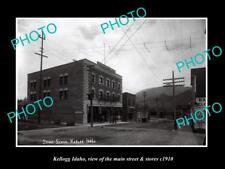 OLD LARGE HISTORIC PHOTO OF KELLOGG IDAHO THE MAIN STREET & STORES c1910