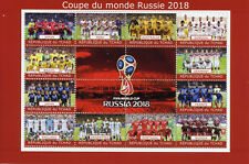 Chad 2018 MNH World Cup Football Russia 2018 England Spain 12v M/S Soccer Stamps