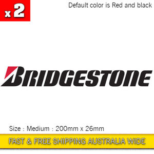 2 Pcs Bridgestone Motorcycle Logo Vinyl Decal sticker JDM Tyre Tire Toyota Supra